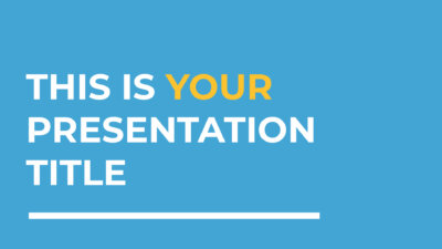 Free corporate blue Powerpoint template or Google Slides theme