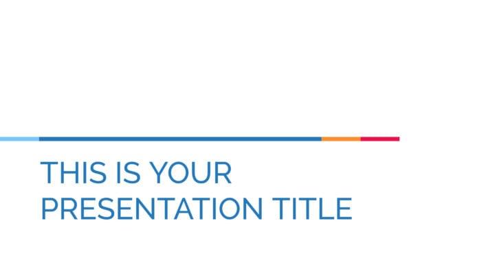 Simples Corporativo. Template PowerPoint grátis e tema do Google Slides