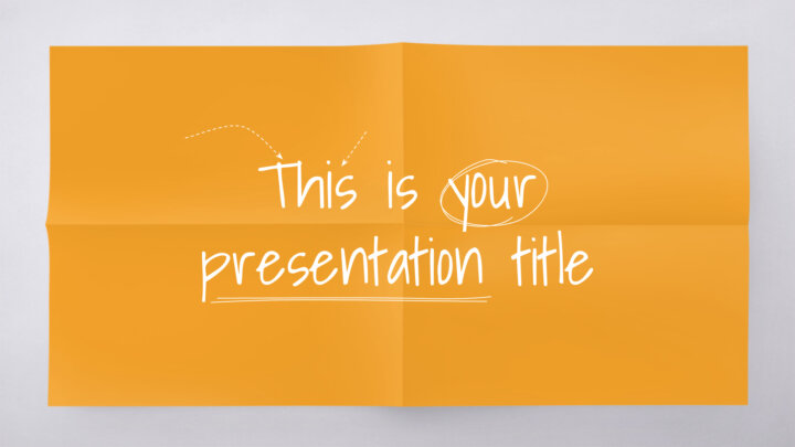 Colorful Paper. Free PowerPoint Template & Google Slides Theme
