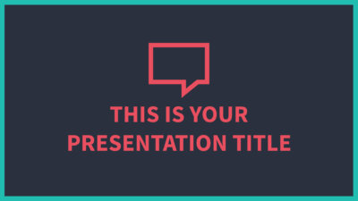 Free Powerpoint template or Google Slides theme with dark background