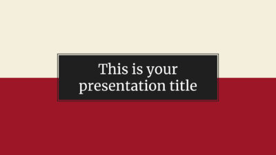 Free serious and formal Powerpoint template or Google Slides theme