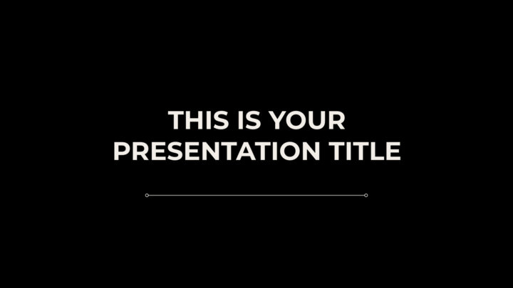 Free simple and functional Powerpoint template or Google Slides theme
