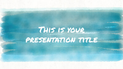 Free artsy and playful Powerpoint template or Google Slides theme