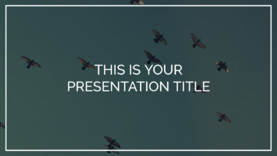 Free inspiring Powerpoint template or Google Slides theme with photo background