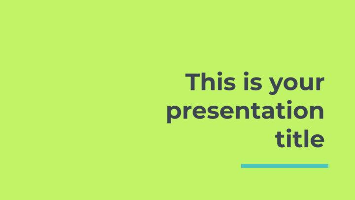 Verde Neón. Plantilla PowerPoint gratis y tema de Google Slides
