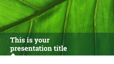Free nature inspired Powerpoint template or Google Slides theme