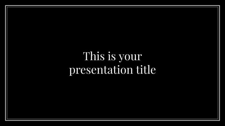 Simple Black. Free PowerPoint Template & Google Slides Theme
