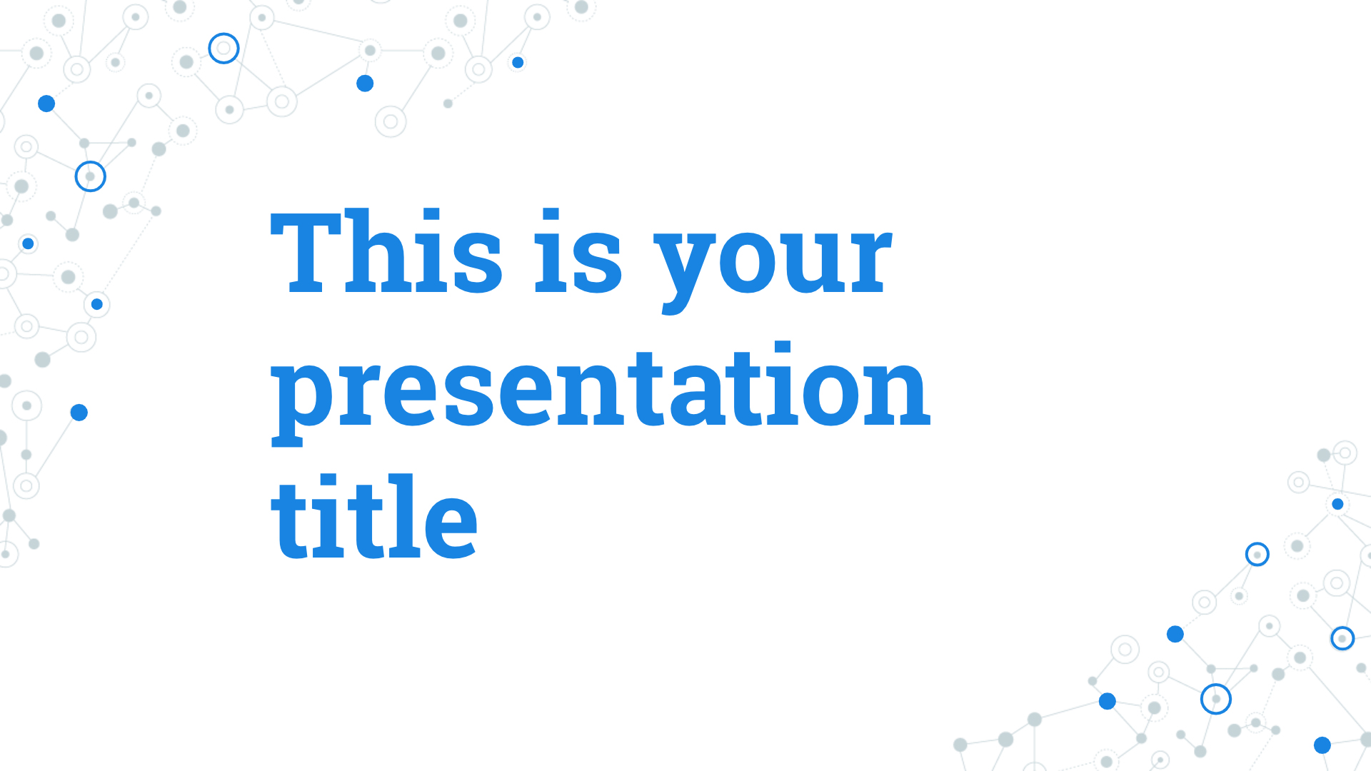 Free Powerpoint template or Google Slides theme with connections design