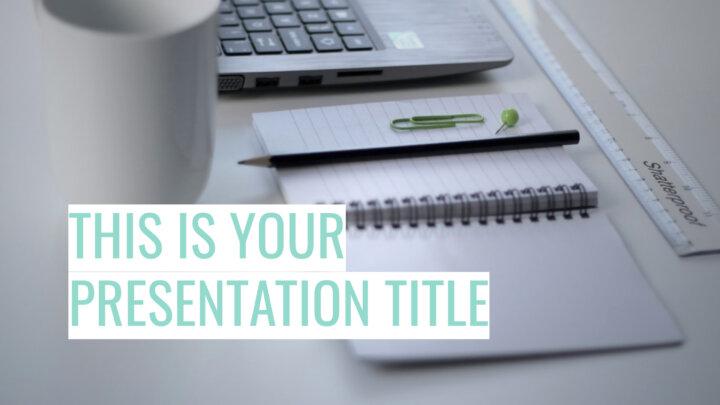Simple Profesional. Plantilla PowerPoint gratis y tema de Google Slides
