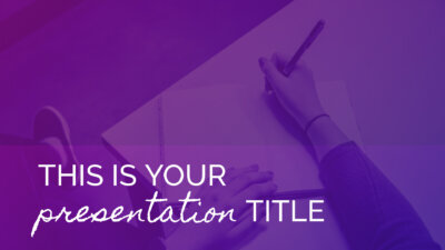 Free colorful Powerpoint template or Google Slides theme