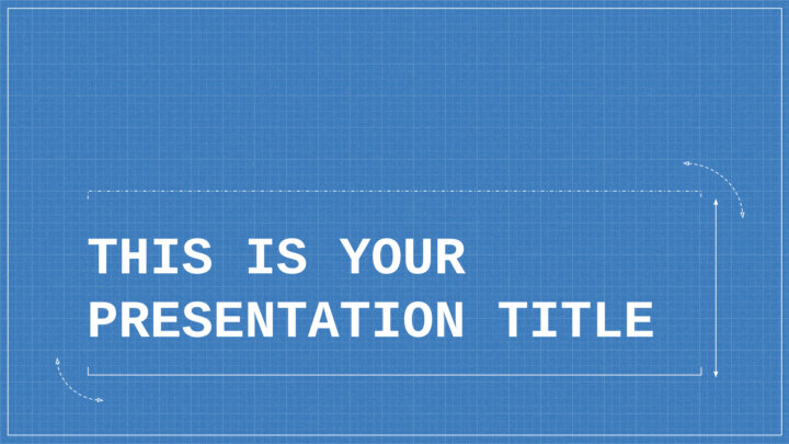 Technical Blueprint. Free PowerPoint Template & Google Slides Theme