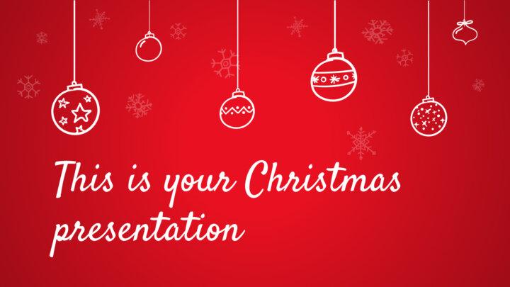 Cozy Christmas. Free PowerPoint Template & Google Slides Theme