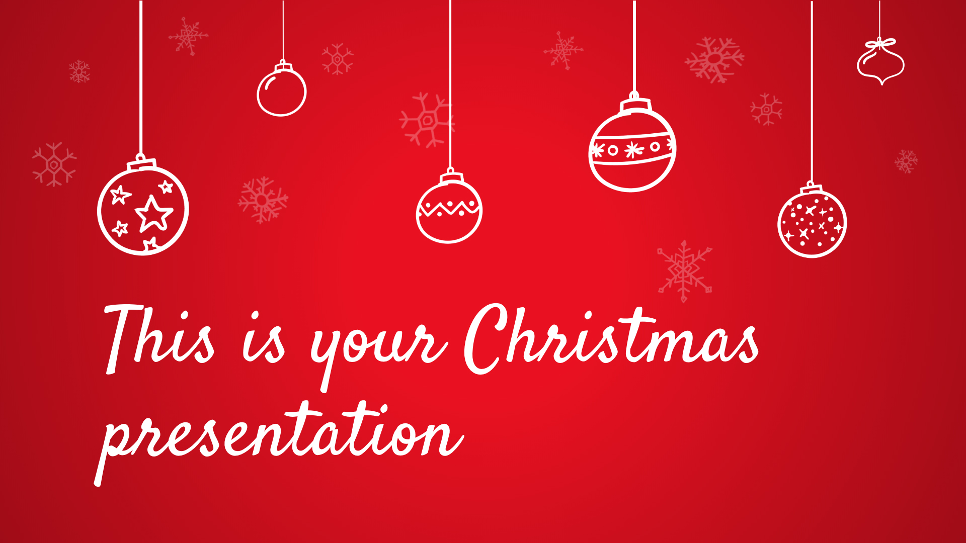 Free Christmas Powerpoint template or Google Slides theme red and warm