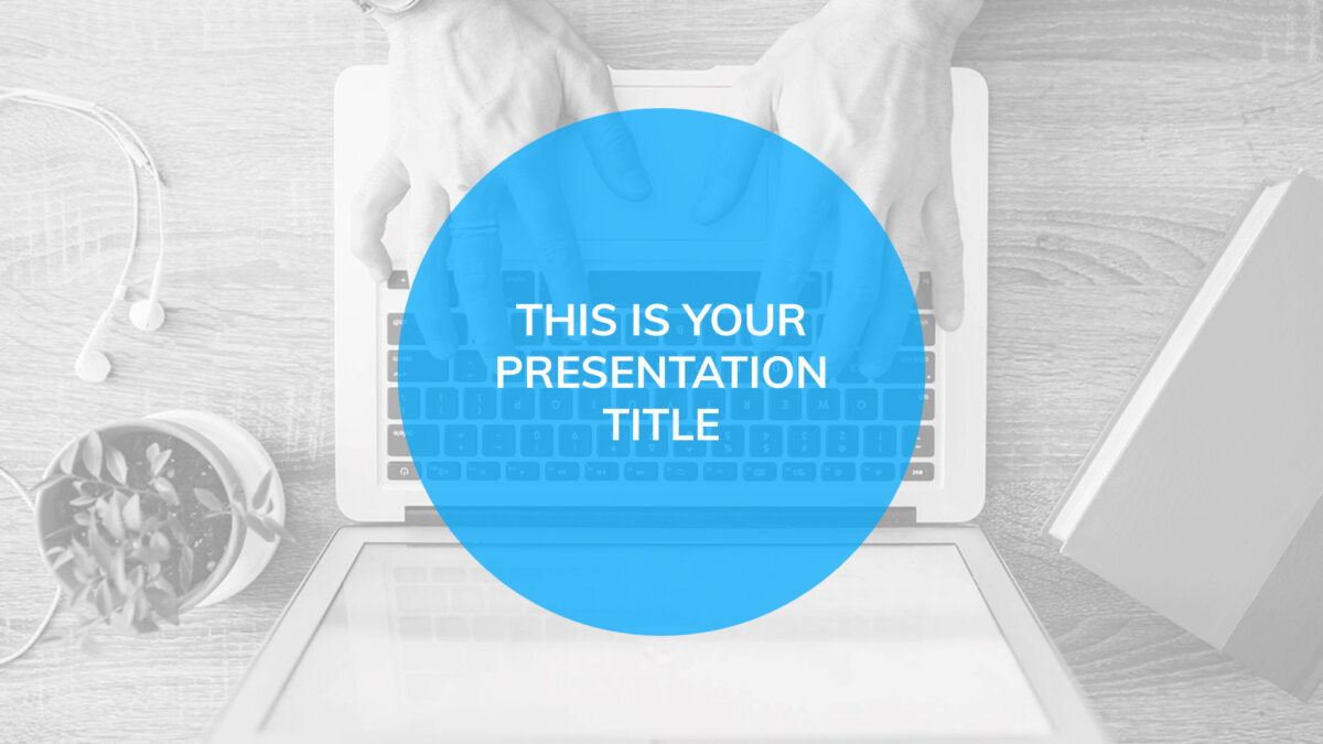 Free blue Powerpoint template or Google Slides theme for business