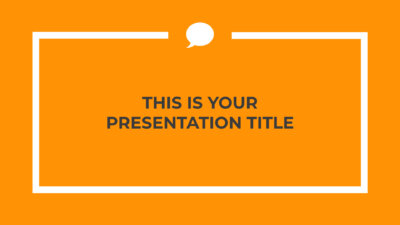 Free professional orange Powerpoint template or Google Slides theme