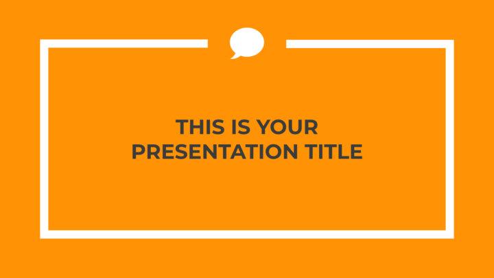 Laranja Profissional. Template PowerPoint grátis e tema do Google Slides