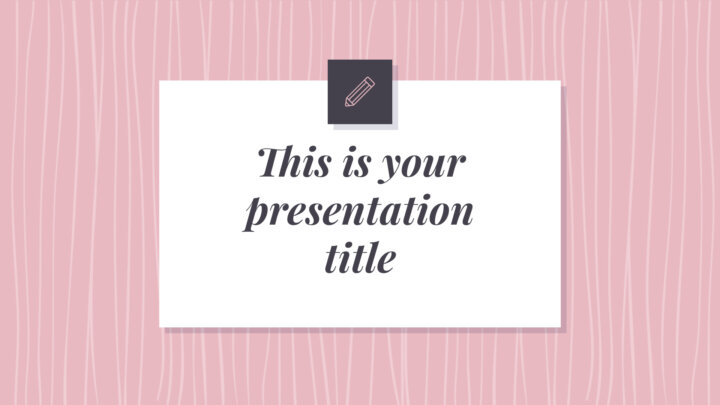 Beautiful Pink Patterns. Free PowerPoint Template & Google Slides Theme