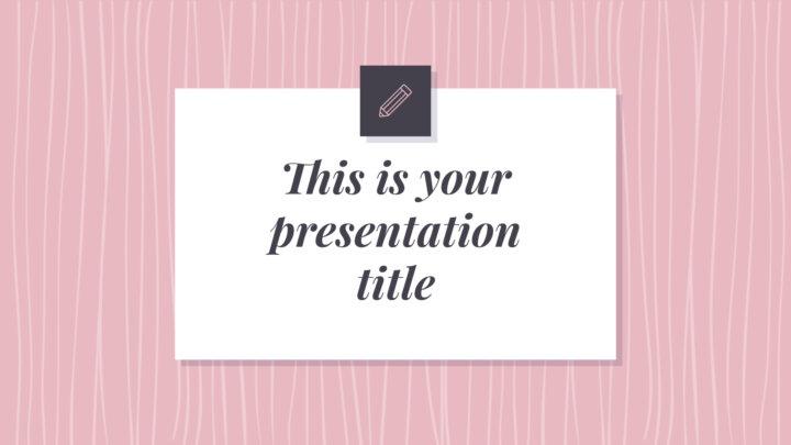 Patrones Rosas. Plantilla PowerPoint gratis y tema de Google Slides