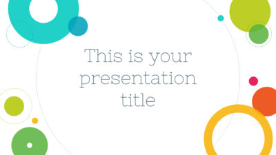 Free colorful Powerpoint template or Google Slides theme for education