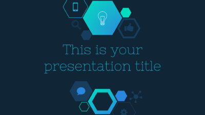 Free business Powerpoint template or Google Slides theme with hexagons