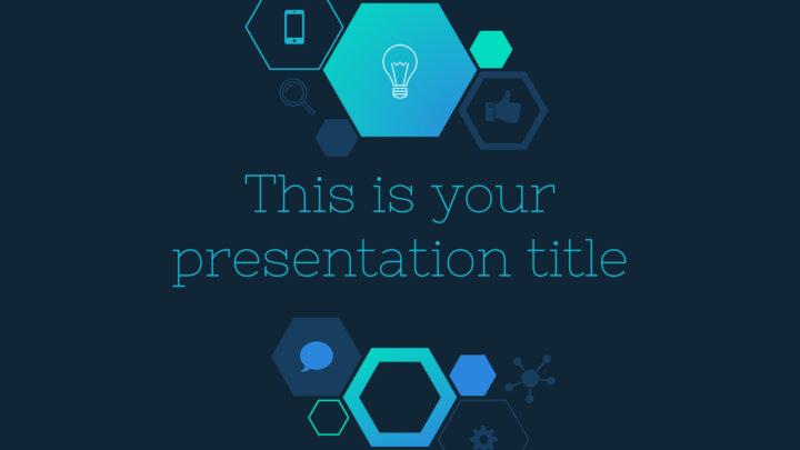 Hexagonal Tech. Free PowerPoint Template & Google Slides Theme