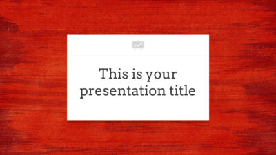 Free Powerpoint template or Google Slides theme with red background
