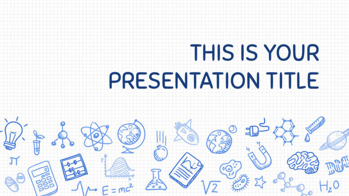 Science Drawings. Free PowerPoint Template & Google Slides Theme