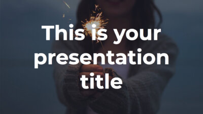 Free inspiring Powerpoint template or Google Slides theme with big typography