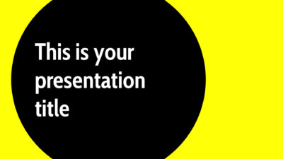 Free modern Powerpoint template or Google Slides theme in neon yellow