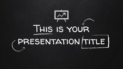 Free blackboard Powerpoint template or Google Slides theme for education