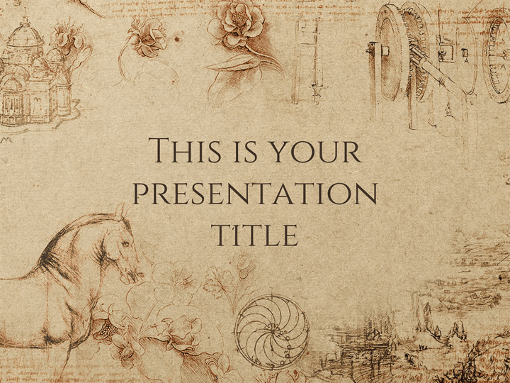 Free powerpoint template or google slides theme with historical style toneelgroepblik Images