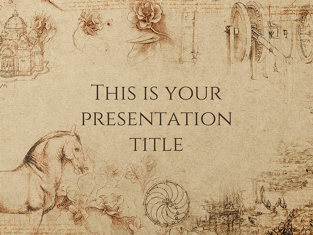 Free powerpoint template or google slides theme with historical style toneelgroepblik