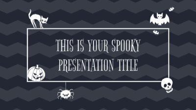 Free Powerpoint template or Google Slides theme for Halloween