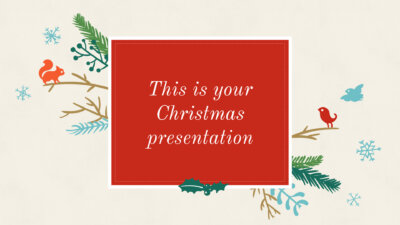 Free christmas presentation - Powerpoint template or Google Slides theme