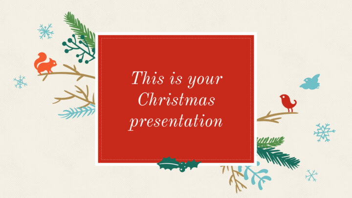 Christmas Drawings. Free PowerPoint Template & Google Slides Theme