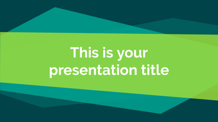 Green Geometric. Free PowerPoint Template & Google Slides Theme