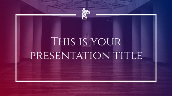 Ley y Justicia Elegante. Plantilla PowerPoint gratis y tema de Google Slides