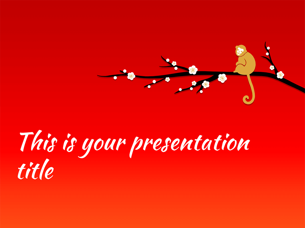 free presentation template chinese new year 2016 the monkey - When Is Chinese New Year 2016