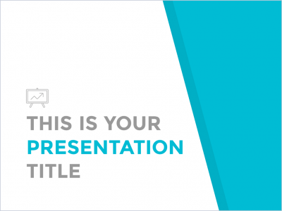 Free clean and simple presentation - Powerpoint template or Google Slides theme