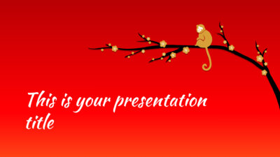 chinese new year 2016 presentation - Powerpoint template or Google Slides theme