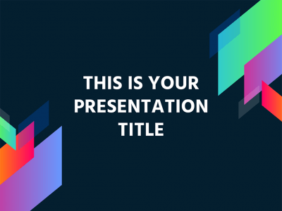 Dark Presentation Template