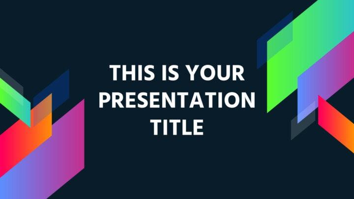 Geométrica Colorida. Plantilla PowerPoint gratis y tema de Google Slides