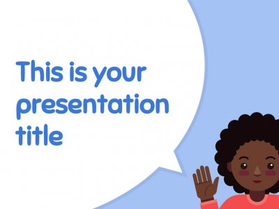 Free education presentation design - Powerpoint template or Google Slides theme
