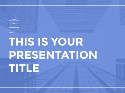 Free corporate and simple presentation - Powerpoint template or Google Slides theme