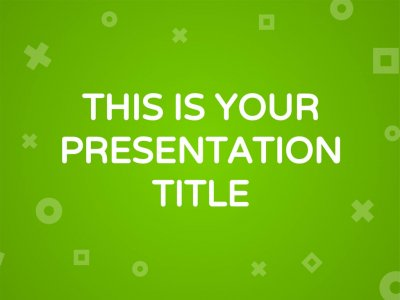 Green presentation template free maths and geometry presentation powerpoint template or google slides theme toneelgroepblik Images