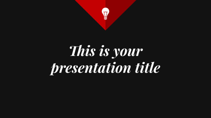 Stylish Triangle. Free PowerPoint Template & Google Slides Theme