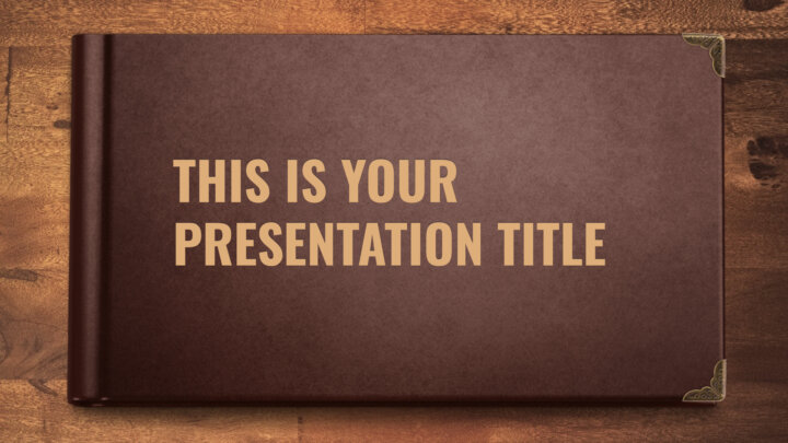 Open Book. Free PowerPoint Template & Google Slides Theme