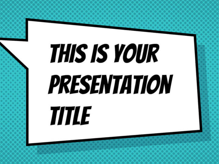 Free powerpoint template or google slides theme with comicbook style toneelgroepblik Images