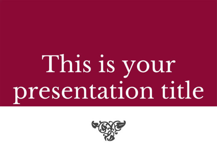 Free Presentation Template Classic And Elegant
