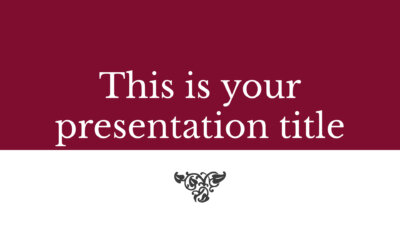 Free formal and elegant presentation - Powerpoint template or Google Slides theme